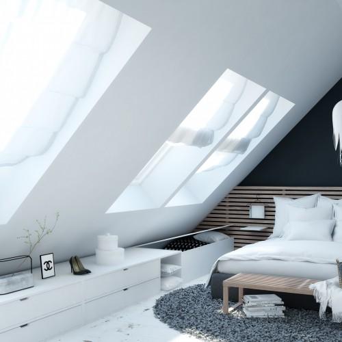 mansarde render bedroom